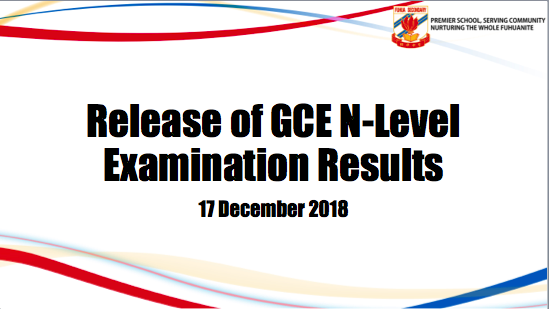 Release of 2018 GCE N\' Level Examination Results