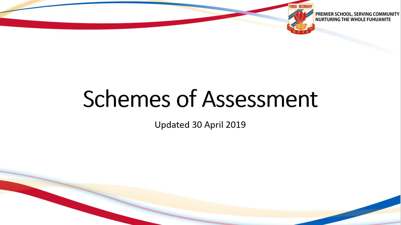 Updated Schemes of Assessment 2019